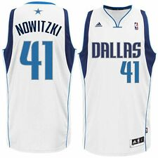 New Dirk Nowitzki # 41 Dallas Mavericks Adidas Swingman Youth NBA White Jersey