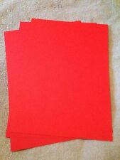 A4 240GSM CARD STOCK BRIGHT XMAS RED FREE POSTAGE (YOU CHOOSE AMOUNT)