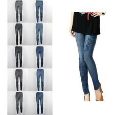 Lady Womens Sexy Legging jegging Pants Jeans Look Tights Skinny Legging New