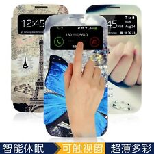 Butterfly Pattern Smart Wake View Flip Case Cover for Samsung Galaxy S4 i9500