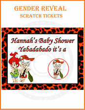 16 Baby Shower Gender Reveal Scratch off Cards Pebbles and Bam Bam