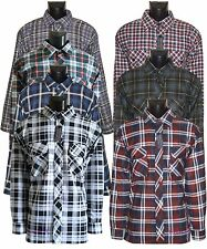New Men's Flannel Lumberjack Check Cotton Casual Work Shirt UK Size M to XXXL