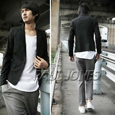 Mens Casual Dress Slim Fit Stylish One Button Suit Blazer Coats Jackets 2 colors