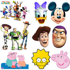 Disney World Characters Kids Party Fun Face Mask Childrens Birthday Card Masks