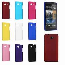 Color Hard Snap-On Rubberized Skin Case Cover for HTC Desire 601 ZARA