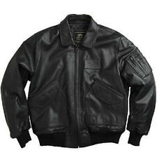 Alpha  CWU 45/P Leather Flight Jacket 45 P  Black, Brown MLC21011A1 Free US ship