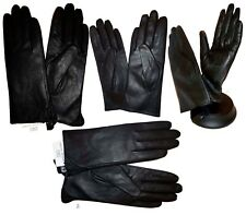 New Womens Ladies Lined Soft Genuine Leather Winter Driving Dress Black Gloves