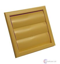 """Extractor Fan Beige Cotswold Stone Gravity Grill Grille Ventilation 4"""" 100mm"""