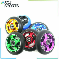 STUNT SCOOTER WHEEL 100mm FOUR SPOKE ALLOY CORE VARIOUS COLOUR WHEELS 4 SPOKE