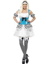 Ladies Light up Alice in Wonderland fancy dress costume dressing up outfit !!!!!