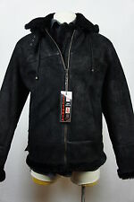 Men B3 100% Shearling Leather Sheepskin Bomber Flying Aviator Jacket Coat S-6XL