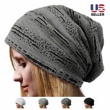 Knitted Oversize Men's Women's Baggy Beanie Slouchy Winter Hat Ski Cap