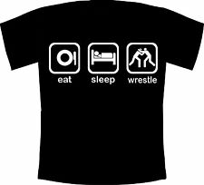 Eat, Sleep, Wrestle Kids Tshirt. Great gift for young WWE and TNA wrestling fans