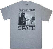 Star Wars 'Give Me Some Space' Darth Vader & Princess Leia T-Shirt {Size: S-3XL}