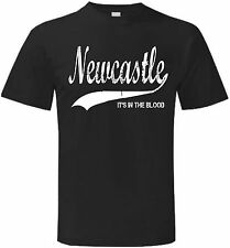 Newcastle It's in the Blood United Retro Style Football T Shirt