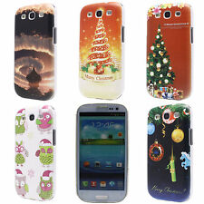 Christmas Tree Gift Owl Cloud Hard Back Case Cover for Samsung Galaxy S3 i9300