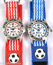 Ravel Boys Childrens 3D Football Watch, Red or Blue Velcro Strap, Free UK P&P