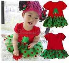 NEW Baby Girls Christmas Tree Tulle Dress Xmas Holidays Dress Party costume Gift