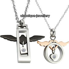 UNIQUE ANGEL WINGS COUPLE NECKLACE ROMANTIC LOVE XMAS GIFT HIM HER HUSBAND WIFE