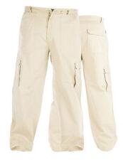 Peached and Washed Cotton Cargo Trousers Kingsize / King Size Duke 42S 44R
