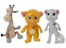 "10""  TALKING FRIENDS  - GIRAFFE, GINGER CAT, WHITE CAT  - WITH SOUNDS FROM  APP"