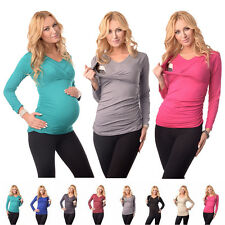 New 2in1 Maternity & Nursing V Neck Top Breastfeeding Size 8 10 12 14 16 18 7014