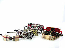LADIES GIRLS SIDE ACCENT HAIR HEADBAND ALICE BAND ANIMAL PRINT BURBERRY SPOT NEW