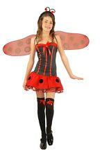 Lady Bug Girls Costume Fun Insect Ladybug Outfit Red & Black