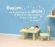 Harry Potter HAPPINESS CAN BE FOUND Quote Decal WALL STICKER Art Decor SQ1034