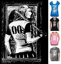 Baseball girl softball funky retro new Size design T-shirt Singlet Women's Men's