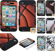 For iPod Touch 4th Generation Hybrid High Impact Hard&Soft Rubber Defender Case