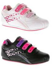 GIRLS VELCRO TRAINERS KIDS SCHOOLS SHOES TRAINERS SIZE 6 - 2