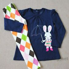 GIRLS Baby Toddler Clothes 2-piece cotton suit(long sleeves T shirt+pants)Bunny