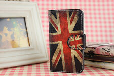 New Uk us national flag PU leather whole Cover Case For Various Mobile phones