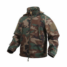 9906 Rothco Woodland Camo Special Ops Soft Shell Waterproof Tactical Jacket