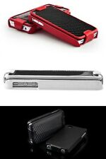 Ion Carbon Shield Snap On Grip Flip Case Carbon Fiber  Leather Iphone 4S Pouch