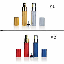 Attractive Refillable Set 2 Perfume Spray Empty Glass Bottle Atomizer Travel HOT
