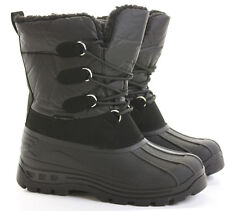 Mens Winter Calf Warm Fur Lined Moon Flat Snow Wellys Wellington Boots Size