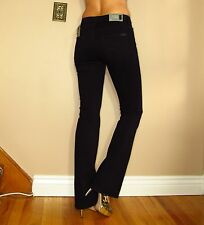 Seven 7 For All Mankind Bootcut Slimming Black Mid-Rise USA Made Jeans 24 00 XXS
