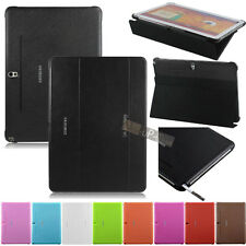 Slim Folding Cover Case +Film for Samsung Galaxy Note 10.1 2014 Edition P600