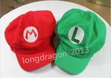 Super Mario Bros Luigi Hats Adult Unisex Cosplay HAT/Cap Red/Green