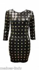 60's Style Celebrity Sequin  Mini Dress Black   Size 8-14   Perfect Fancy Dress