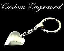 Personalised engraved love heart keyring keychain, gift pouch, ideal present KH1
