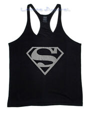 Superman Mens Tank Top-Bodybuilding T-Shirt-Stringer Muscle Racerback Golds Gym