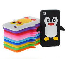 Kids Cute Penguin Cartoon Soft Silicone Case Skin Cover for iPod Touch 2nd 3rd