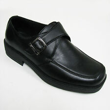 New Men's Casual Black Strap Buckle Loafers Slip On Comfort Dress Shoes, Sizes
