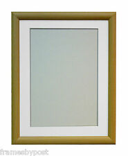 MDF Beech Photo Picture Frames with Mounts R7 SMALLER SIZES