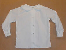 Newco Girls School Uniform Size 3T-16 & Women Sz 30-50 Blouse Long Sleeve Shirt