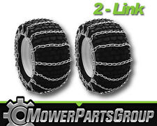 A294 Snow/Mud Tire Chains 4.80x4.00x8 4.8-12 2-Link Blower Thower Pair