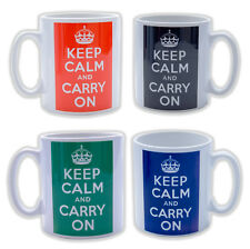 Keep Calm Mugs Custom Personalised with any Colour & Text on Various Type Mugs
